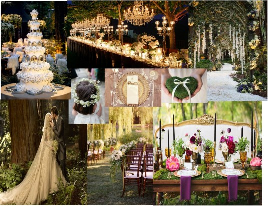 Refined Woodland Theme wedding Inspiration